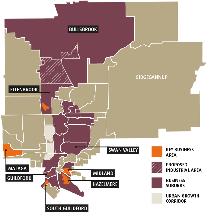 Key Business Areas map
