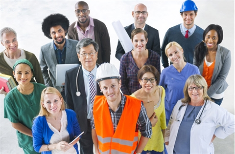 group of multi-skilled workers