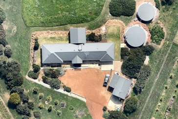 house aerial view